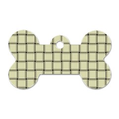 Cream Weave Dog Tag Bone (one Sided) by BestCustomGiftsForYou