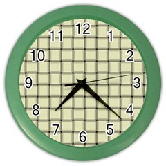 Cream Weave Wall Clock (color) by BestCustomGiftsForYou