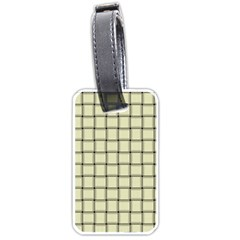 Cream Weave Luggage Tag (two Sides) by BestCustomGiftsForYou
