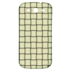 Cream Weave Samsung Galaxy S3 S Iii Classic Hardshell Back Case by BestCustomGiftsForYou