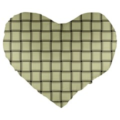 Cream Weave 19  Premium Heart Shape Cushion by BestCustomGiftsForYou