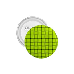 Fluorescent Yellow Weave 1 75  Button by BestCustomGiftsForYou