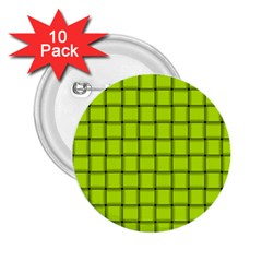 Fluorescent Yellow Weave 2 25  Button (10 Pack) by BestCustomGiftsForYou