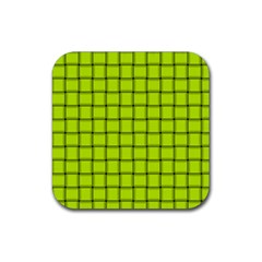 Fluorescent Yellow Weave Drink Coaster (square) by BestCustomGiftsForYou