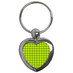 Fluorescent Yellow Weave Key Chain (heart) by BestCustomGiftsForYou