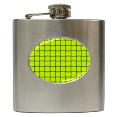 Fluorescent Yellow Weave Hip Flask by BestCustomGiftsForYou
