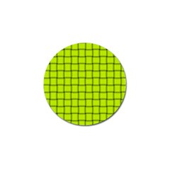 Fluorescent Yellow Weave Golf Ball Marker 4 Pack by BestCustomGiftsForYou