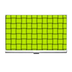 Fluorescent Yellow Weave Business Card Holder by BestCustomGiftsForYou