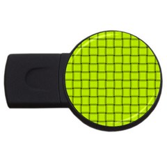 Fluorescent Yellow Weave 2gb Usb Flash Drive (round) by BestCustomGiftsForYou