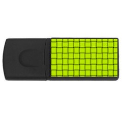 Fluorescent Yellow Weave 4gb Usb Flash Drive (rectangle)
