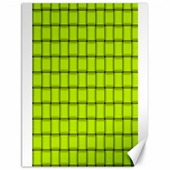 Fluorescent Yellow Weave Canvas 18  X 24  (unframed)