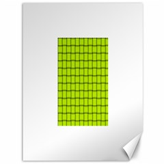 Fluorescent Yellow Weave Canvas 36  X 48  (unframed) by BestCustomGiftsForYou
