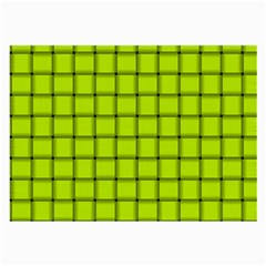 Fluorescent Yellow Weave Glasses Cloth (large) by BestCustomGiftsForYou