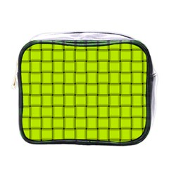 Fluorescent Yellow Weave Mini Travel Toiletry Bag (one Side) by BestCustomGiftsForYou