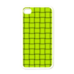 Fluorescent Yellow Weave Apple Iphone 4 Case (white) by BestCustomGiftsForYou