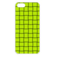 Fluorescent Yellow Weave Apple Iphone 5 Seamless Case (white) by BestCustomGiftsForYou