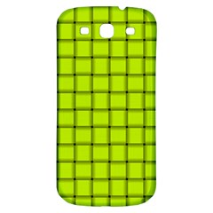 Fluorescent Yellow Weave Samsung Galaxy S3 S Iii Classic Hardshell Back Case by BestCustomGiftsForYou