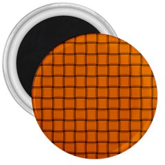 Orange Weave 3  Button Magnet by BestCustomGiftsForYou