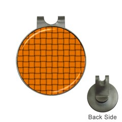 Orange Weave Hat Clip with Golf Ball Marker