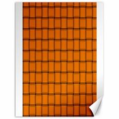 Orange Weave Canvas 18  X 24  (unframed)