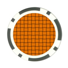 Orange Weave Poker Chip by BestCustomGiftsForYou