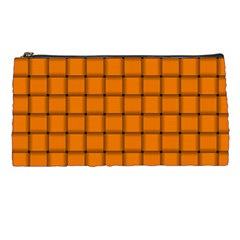 Orange Weave Pencil Case by BestCustomGiftsForYou