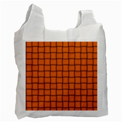 Orange Weave Recycle Bag (two Sides)