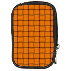Orange Weave Compact Camera Leather Case by BestCustomGiftsForYou
