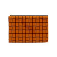 Orange Weave Cosmetic Bag (medium) by BestCustomGiftsForYou