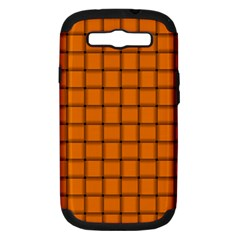 Orange Weave Samsung Galaxy S Iii Hardshell Case (pc+silicone) by BestCustomGiftsForYou