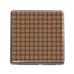 Cafe Au Lait Weave Memory Card Reader With Storage (square) by BestCustomGiftsForYou