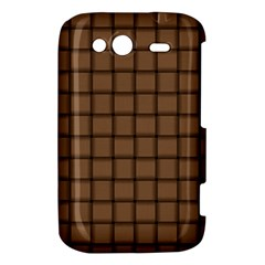Cafe Au Lait Weave HTC Wildfire S A510e Hardshell Case by BestCustomGiftsForYou