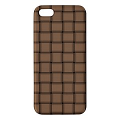 Cafe Au Lait Weave Iphone 5 Premium Hardshell Case