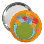 Vivid colors flowers mirror - 3  Handbag Mirror
