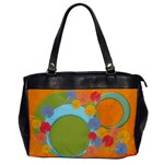 Vivid colors flowers handbag - Oversize Office Handbag