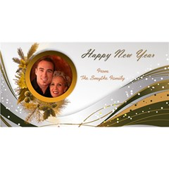 Happy New Year 3d Greeting Card By Deborah   Happy New Year 3d Greeting Card (8x4)   Zj0ybwypr82n   Www Artscow Com Front