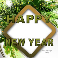 Happy New Year 3d Greeting Card By Deborah   Happy New Year 3d Greeting Card (8x4)   Zj0ybwypr82n   Www Artscow Com Inside