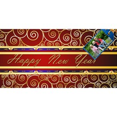Red And Blue Happy New Year 3d Card By Deborah   Happy New Year 3d Greeting Card (8x4)   Cctgpmnc0r2b   Www Artscow Com Front