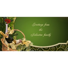 Green And Gold New Year 3d Card By Deborah   Happy New Year 3d Greeting Card (8x4)   2tubmjnx63fa   Www Artscow Com Front