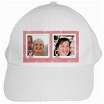 I walk for these women-Breast Cancer Awareness- Ribbon, white cap