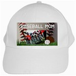 baseball mom- white cap