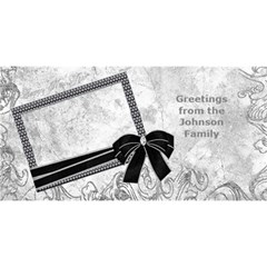 Silver Happy New Year 3d Card By Deborah   Happy New Year 3d Greeting Card (8x4)   R85v82sp97uv   Www Artscow Com Front