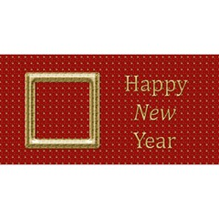 My Happy New Year 3d Card By Deborah   Happy New Year 3d Greeting Card (8x4)   6np4xip1gteb   Www Artscow Com Front