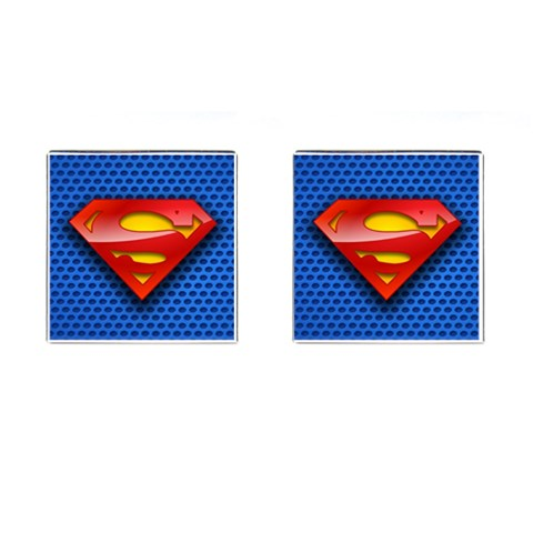 Superman Cufflinks By Nancy   Cufflinks (square)   8nwagy4638v7   Www Artscow Com Front