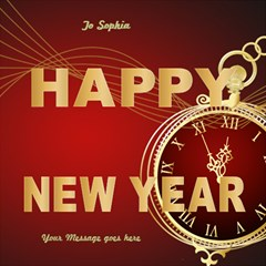 Red Time Happy New Year 3d Card By Deborah   Happy New Year 3d Greeting Card (8x4)   W5d0zj5qkwtd   Www Artscow Com Inside