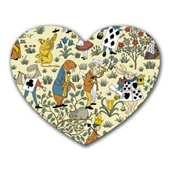 Alice In Wonderland Mouse Pad (Heart) by EndlessVintage