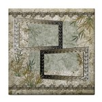 Neutral Silver gold shadow frame face towel