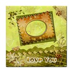 love you spring gold face  towel - Face Towel