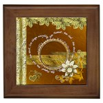 Live every moment heart love framed tile
