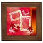 Red garden framed tile